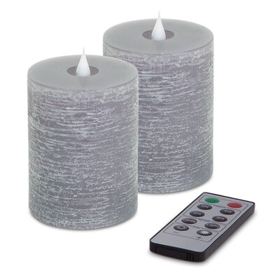 """Unscented Flameless Candle Size: 5"""" H x 3.5"""" W x 3.5"""" D, Color: Gray 66590"""