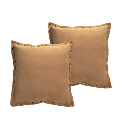 Studded Trim Throw Pillow Color: Brown