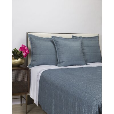 Jainil Texture Coverlet Set Color: Blue, Size: Queen