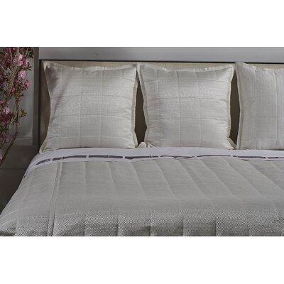 Jainil Texture Coverlet Set Size: King, Color: White