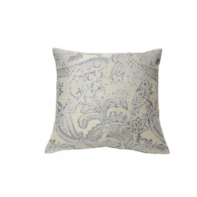 Knox Arabesque Throw Pillow Color: Silver