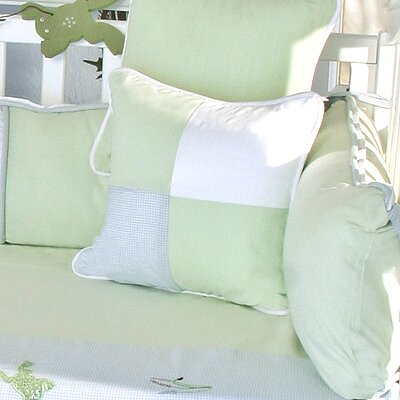 One Little Froggie Patch Decorator Throw Pillow
