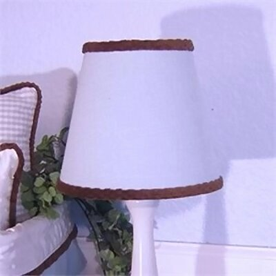 8 Cotton Empire Lamp Shade Color: Blue Gingham