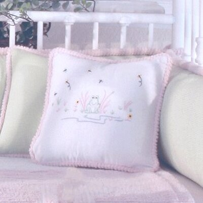 Froggy Decorator Throw Pillow Color: Pink