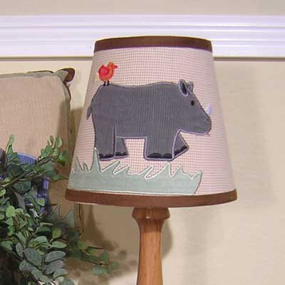 On Safari Wire 5 Cotton Empire Lamp Shade