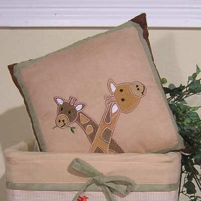 On Safari Giraffe Throw Pillow