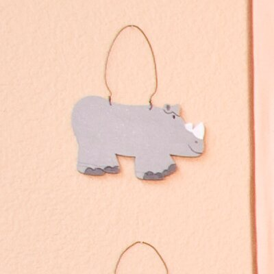 On Safari Rhino Wall Hanging