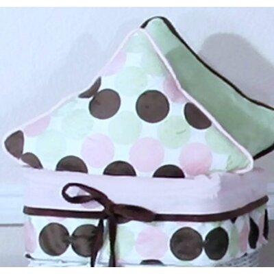 Minky Dot Throw Pillow Color: Pink