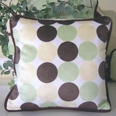 Minky Dot Throw Pillow Color: Lemon