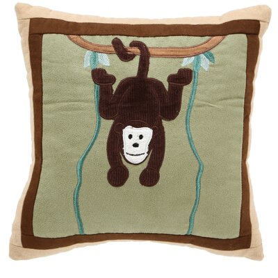On Safari Monkey Throw Pillow