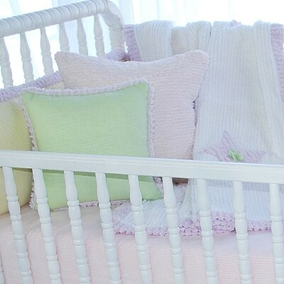 Carlie Gingham Cotton Blend Pillow Cover Pillow Cover Color: Green/Lavender