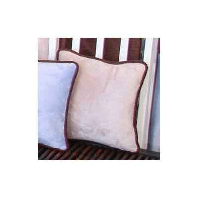 Blue Chocolate Minky Polka Dot Throw Pillow Color: Tan