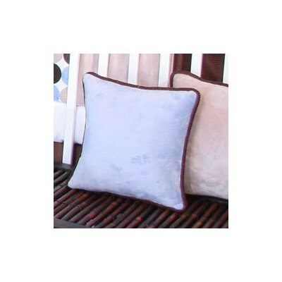 Blue Chocolate Minky Polka Dot Throw Pillow Color: Blue