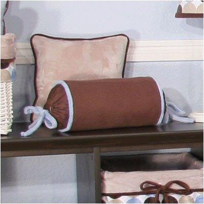 Minky Dot Bolster Pillow Color: Blue