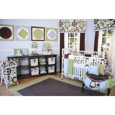 Modern Baby Boy Caffe Crib Bedding Collection