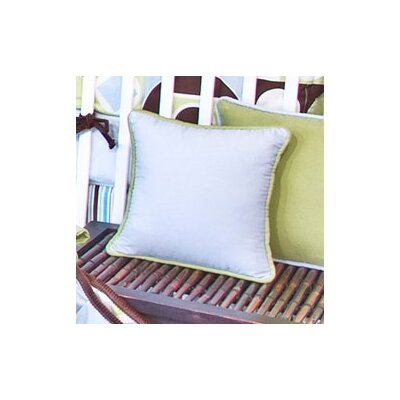Modern Baby Boy Caffe Throw Pillow Color: Blue and Brown