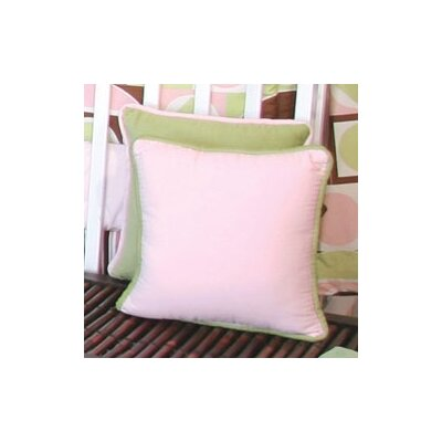 Modern Baby Girl Caffe Throw Pillow Color: Pink