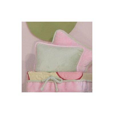 Minky Bubbles Throw Pillow Color: Sage