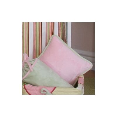 Minky Bubbles Throw Pillow Color: Pink