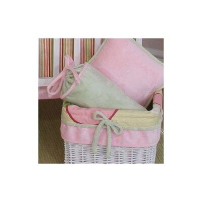 Minky Bubbles Bolster Pillow Color: Sage