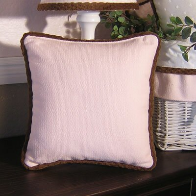 Throw Pillow Color: Pink