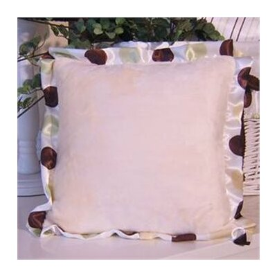 Ash Polka Dot Trim Throw Pillow Color: Lemon