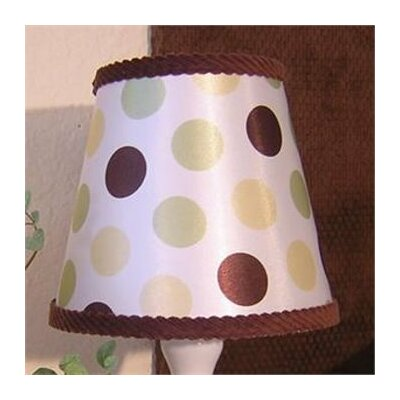 Ash 8 Fabric Empire Lamp Shade Color: Green and Yellow