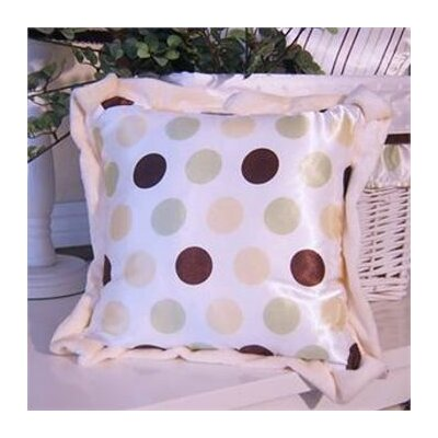 Ash Polka Dot Throw Pillow Color: Lemon Polka Dot