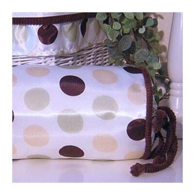 Ash Polka Dot Bolster Pillow Color: Lemon