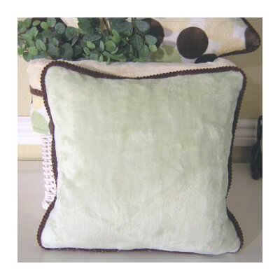 Blue Chocolate Minky Polka Dot Throw Pillow Color: Green