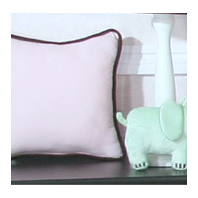 Blue Chocolate Minky Polka Dot Throw Pillow Color: Pink
