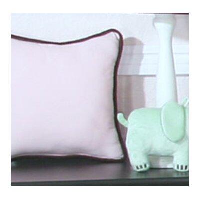 Blue Chocolate Minky Polka Dot Throw Pillow Color: Pink