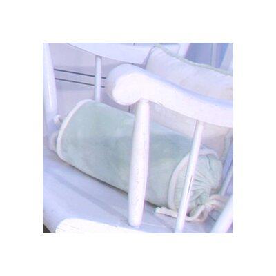Minky Bubbles Bolster Pillow Color: Mint