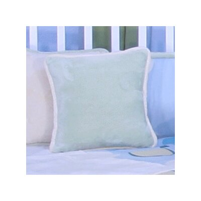 Minky Bubbles Throw Pillow Color: Mint