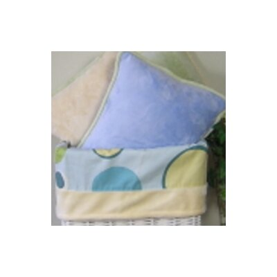 Minky Bubbles Throw Pillow Color: Blue
