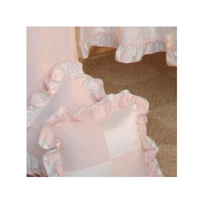 Princess Pink Patch Decorator Cotton Throw Pillow