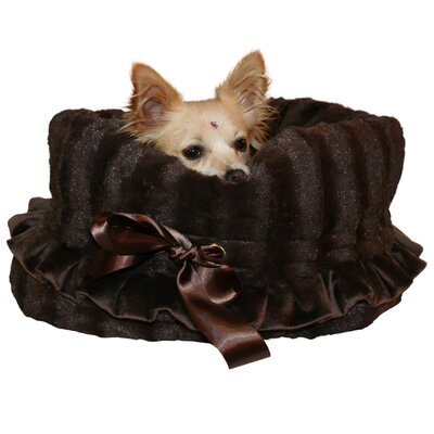 Snuggle Bug Reversible Pet Carrier Color: Brown