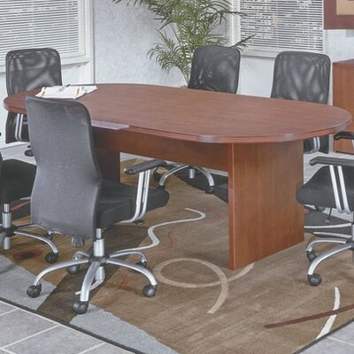 Napa Oval Conference Table Finish: Mahogany, Size: 6 L