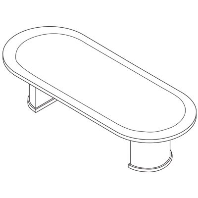 Oval Conference Table Product Photo