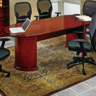 Mendocino Oval Conference Table Size: 12 L, Finish: Mahogany