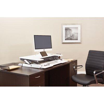 16.25 H x 36 W Standing Desk Conversion Unit Finish: White