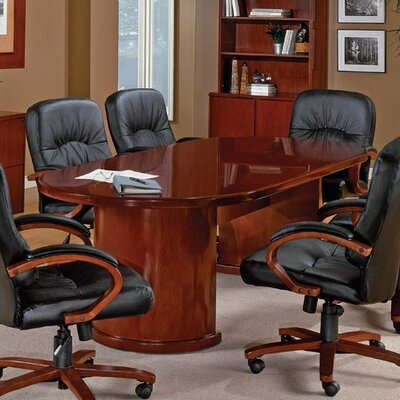 Jusino Oval Conference Table Table Top: 120 W