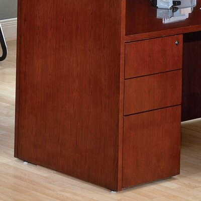Jusino 27 H x 15.5 W Solid Wood Desk File Pedestal