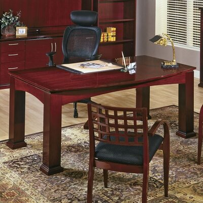 Bow Front Table Writing Desk Product Photo