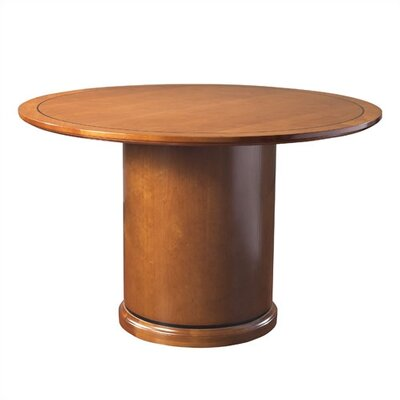 Mendocino Circular 30H x 48W x 48L Conference Table Finish: Mahogany