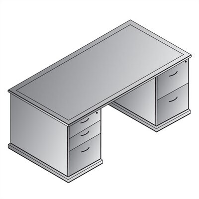 Double Pedestal Executive Desk Left Right Drawers Mendocino Product Picture 7839