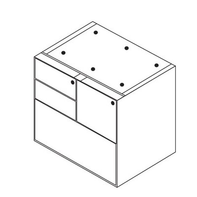 Jusino 27 H x 32 W Desk File Pedestal