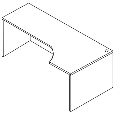Sonoma Left Curve Corner Desk Shell Orientation: Right Product Photo 968