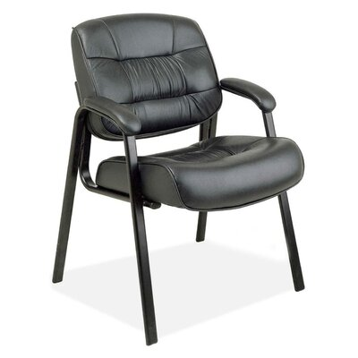 Leather Guest Chair Color: Black
