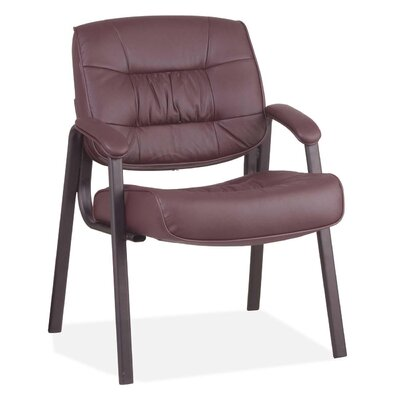 Leather Guest Chair Color: Burgundy